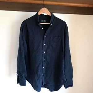 GITMAN Bros Vintage Navy Overdye Oxford Shirt XL